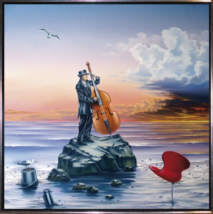 Solokoncert, 100 x 100 cm. Kr. 14.800,-